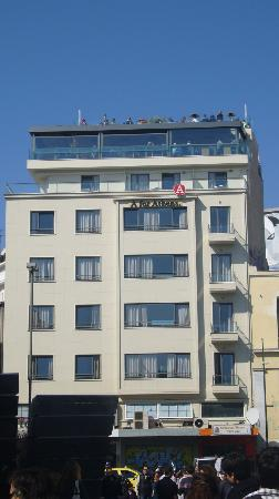 A for Athens: Hotel view from plaza