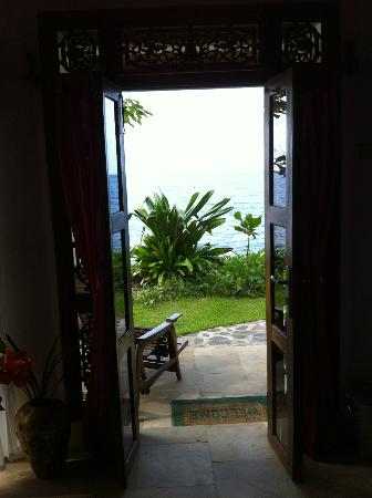 Shambala Oceanside Retreat: Radha villa: View from the front door