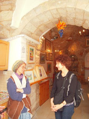 Safed, Israel: My friend and the artist