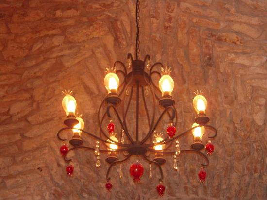 Sheva Chaya Gallery : Pomegranate Chandelier which can be made to order and shipped worldwide