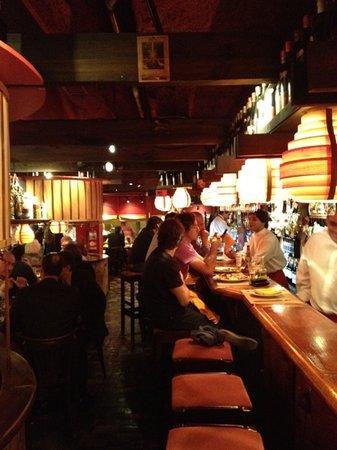tancat: dining at the bar