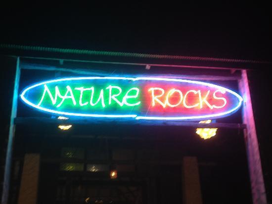 Nature Rocks: Nature Beach Restaurant sign
