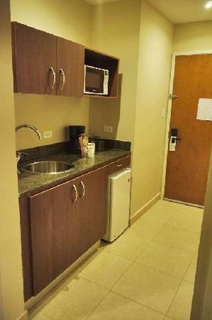 Central Park Hotel: Habitación, kitchenette