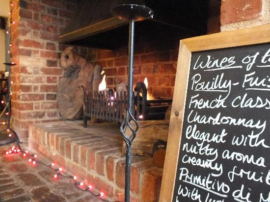 The White Horse Restaurant: The fireplace in the restaurant