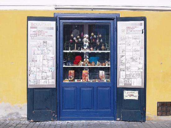 Transylvania, Romania: Art Bazaar shop window