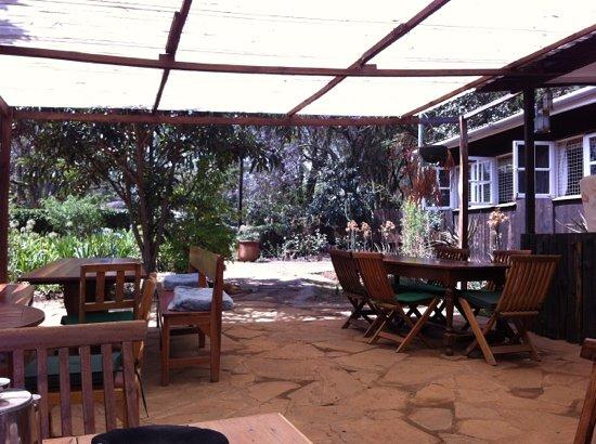 Cape Chestnut Laikipia Sip & Dine Nanyuki: Cape Chestnut patio