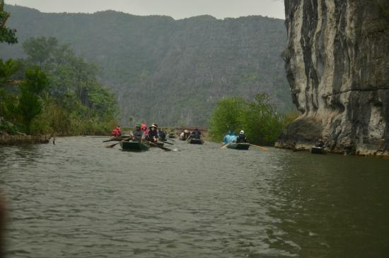 Hoa Lu - Tam Coc Day Tour: A bit of a crowd at Tam Coc, but still very peaceful..