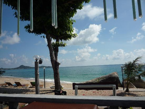 Sunrise Bungalow: View of beach from Sunrise restraunt