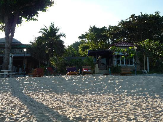 Sunrise Bungalow: View of resort from sea