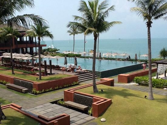 Hansar Samui Resort: Vue de notre balcon
