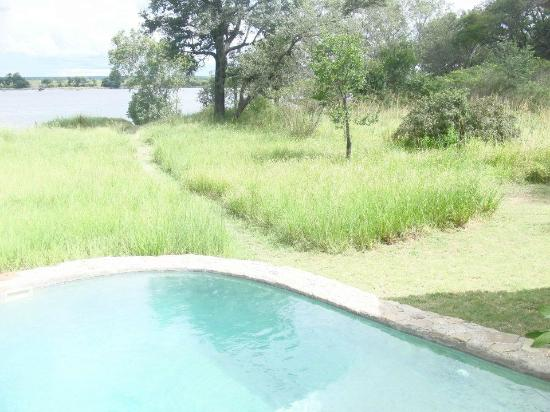 Plunge Pool and view of the Mighty Zambezi River!