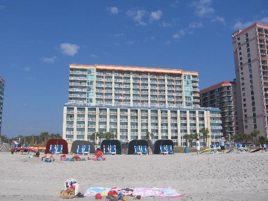 Dunes Village Resort View Of The Palmetto Tower From Beach