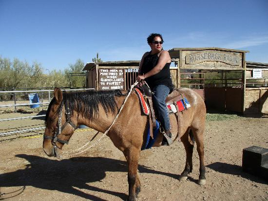 Cibola Vista: My wife on horseback