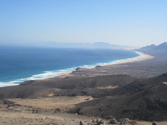Playa de Cofete: Vista desde el Mirador de Cofete