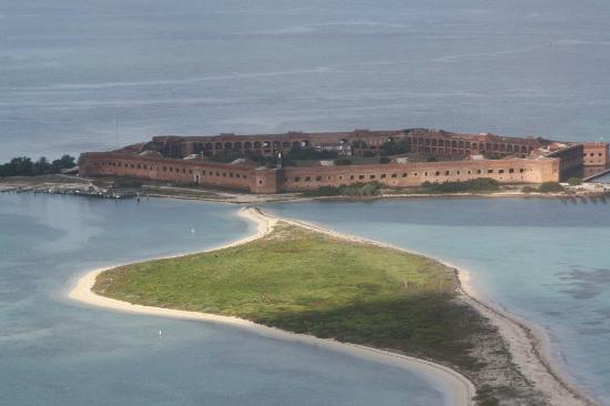 Dry Tortugas National Park, FL: Ariel view of fort and