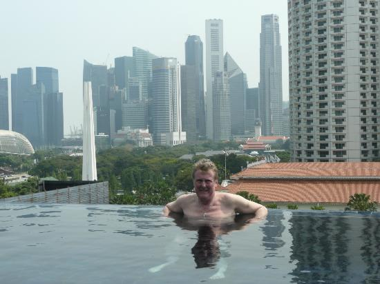 Naumi Hotel Enjoying The Singapore Skyline From Naumis Infinity Pool