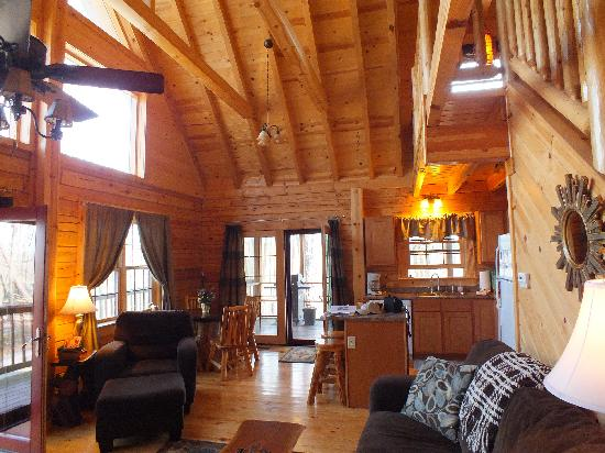 Valley View Cabins: A view of the living room