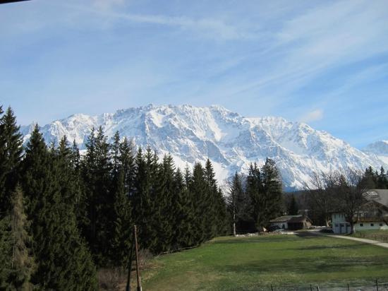 Naturhaus Lehnwieser: Zimmeraussicht auf den Dachstein
