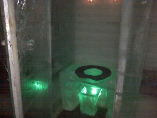 The Aurora Ice Museum: The Ice Toilet!