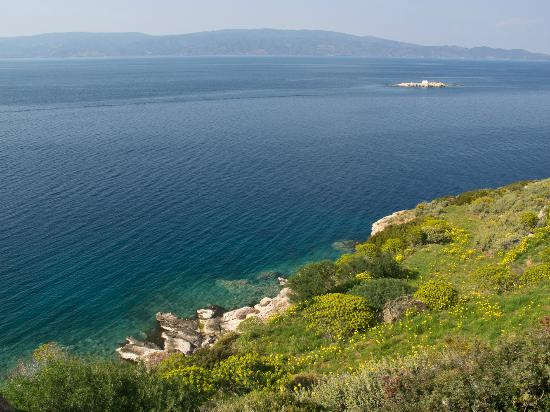 This is from the path between Mandhraki Beach and Hydra town.  The hike is spectacular.