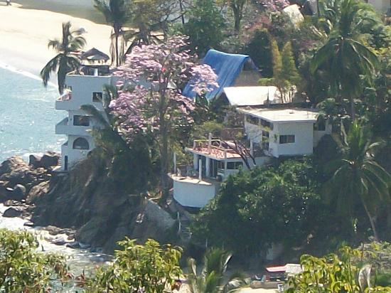 MiraMar Yelapa: view of Casas from above the village