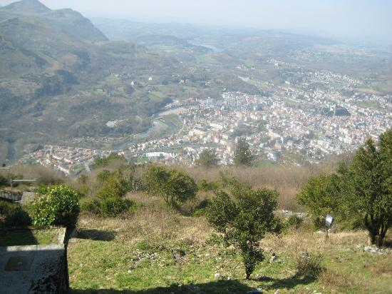 French Activity Holidays: view from the peak at Lourdes