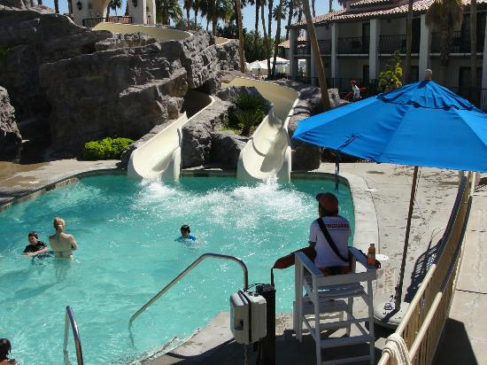 Omni Rancho Las Palmas Resort & Spa: Splashtopia's 2 water slides