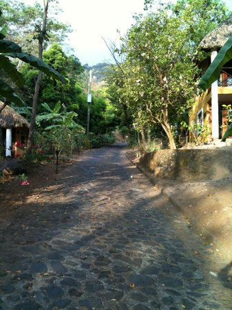 Apoyo Resort: Another view of one of the private stone roads winding through the resort