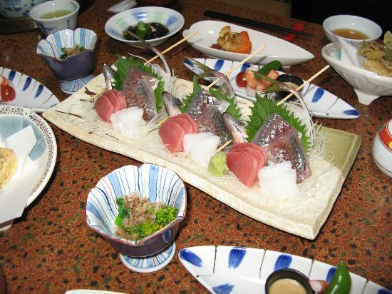 Fukumien : Abendessen (nur ein Teil davon!)
