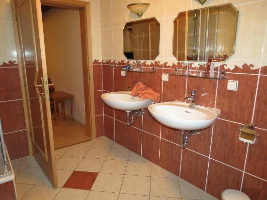 Apart Hotel Wernigerode: Plenty of room in bathroom