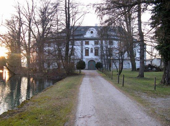 Schoerfling am Attersee, Østerrike: Allee zum Schloss Kammer im Winter