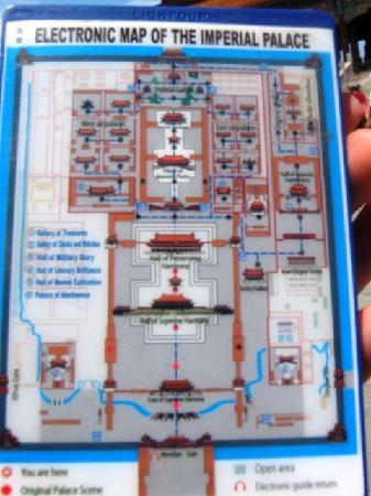 Electronic Map of Forbidden City Picture of Forbidden CityThe