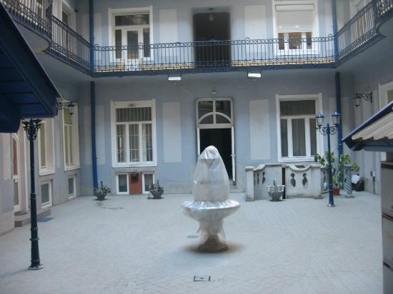 Baross City Hotel courtyard