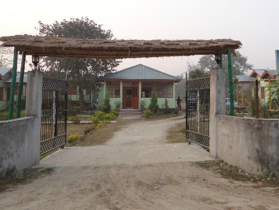Manas Wildlife Sanctuary: Entrance to the Florican Cottages