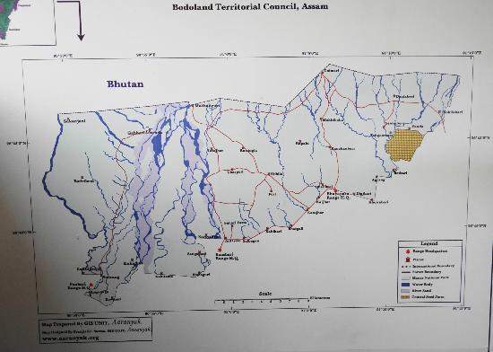 Manas Wildlife Sanctuary: Map