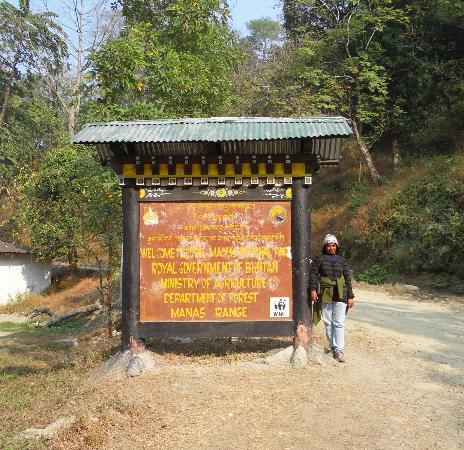 Manas National Park, Ấn Độ: Border of Bhutan