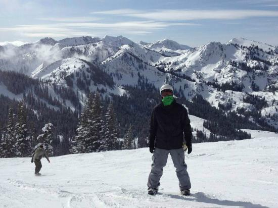 Brighton Ski Resort: At the top of Great western lift