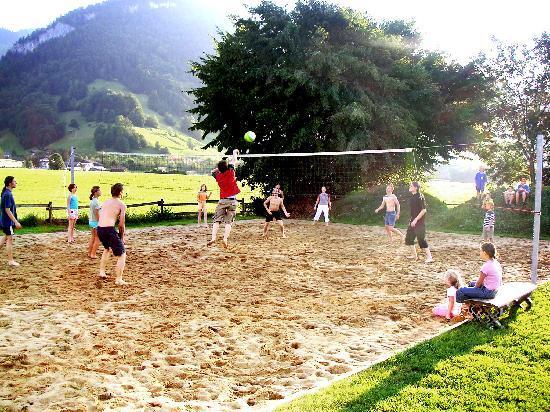 Erlebnisgastehaus Kanisfluh: Große Spiel- und Sportwiese