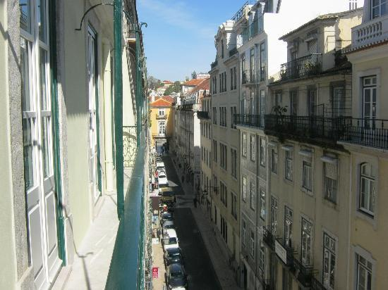 Lisbon Serviced Apartments - Baixa Chiado: View from our apartment towards Rossio (Rua Sapateiros)