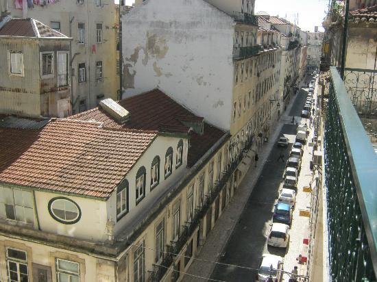 Lisbon Serviced Apartments - Baixa Chiado: View from our apartment towards Commerce Square (Rua Sapateiros)