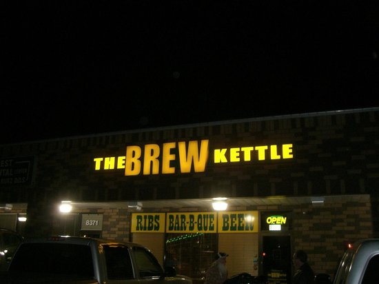 Brew Kettle Taproom & Smokehouse: Sign sez it all-Ribs BarBQue Beer!