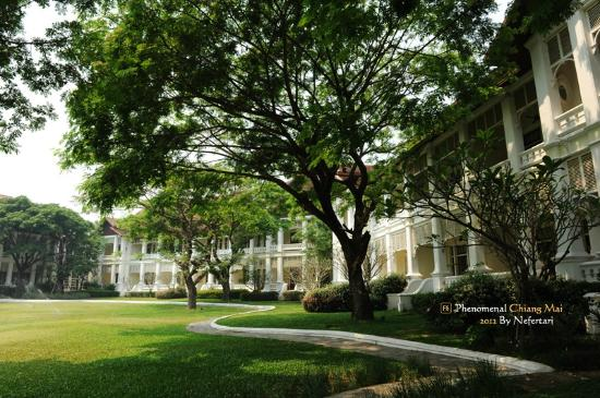 The Dhara Dhevi Chiang Mai: Colonial Suite, backyard