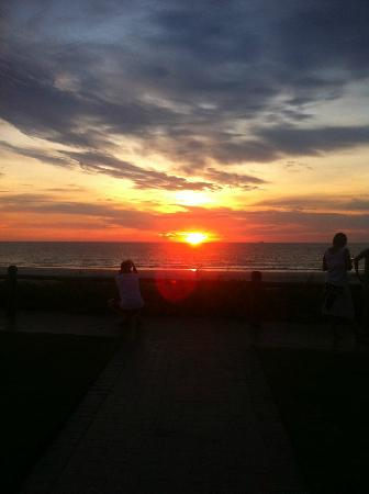 The Bridport Cafe: sunset