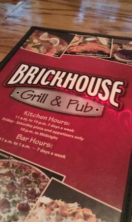 Brickhouse Grill & Pub: Menu