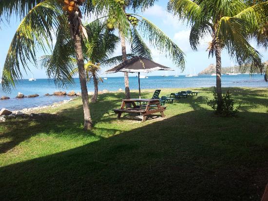 Bay Guesthouse: vue de notre terrasse