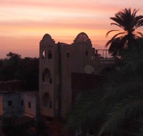 Hotel Sheherazade: View from the rooftop, sunset