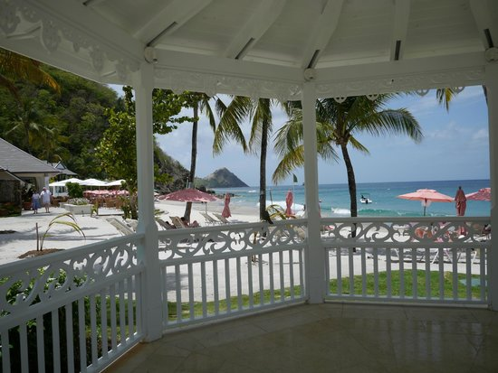 BodyHoliday Saint Lucia : View from Cariblue restaurant.