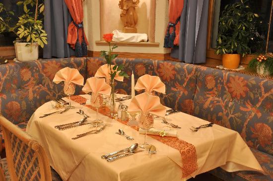 Hotel Tauferberg: Tischdekoration