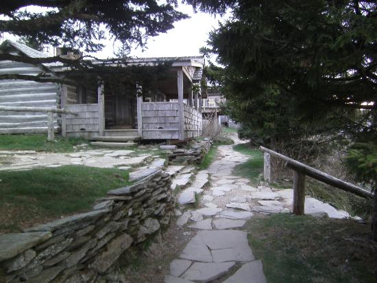 LeConte Lodge: Cabin (to right are stairs to dining room)