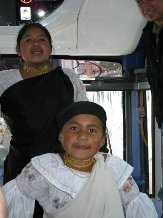 Otavalo, Ecuador: Singing before selling scarfs & bracelets